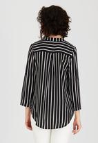 Revenge - Striped Blouse Black and White
