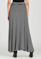 edit - Maxi Fit and Flare Skirt Black and Grey