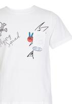 Rebel Republic - Slim Fit Printed T-shirt White