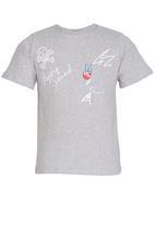 Rebel Republic - Slim Fit Printed T-shirt Grey