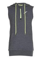 Lithe - Fleece Pullover Hood Grey
