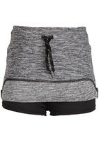 Lithe - Poly Spandex Mini Skirt Grey