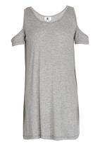 Rebel Republic - Cold Shoulder Dress Grey