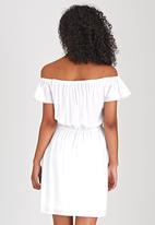 edit - Off-the-shoulder Dress White