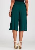 STYLE REPUBLIC - Culottes with Pleats Dark Green