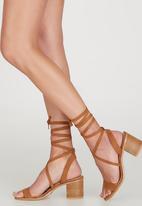 Billini - Wistful Ankle-strap Heels Tan