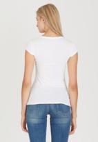GUESS - Glitter Logo Tee White