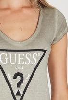 GUESS - Logo Tee Khaki Green