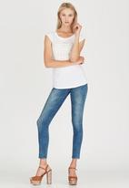 GUESS - Raw Edge Muscle Tee White