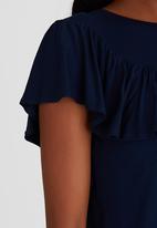STYLE REPUBLIC - Frill Detail T-shirt Navy