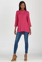 edit - Button Front Tunic Cerise Pink