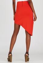 STYLE REPUBLIC - Asymmetrical Mini Skirt Orange