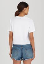 RVCA - Compass Boxy Fit Tee Off White