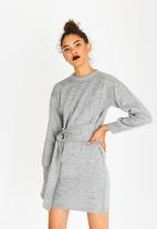 STYLE REPUBLIC - Tie Front Dress Grey