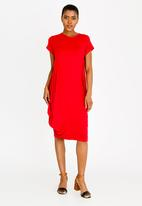 edit - Loose fitting dress - red