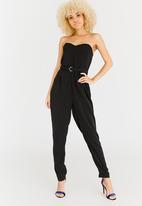 STYLE REPUBLIC - Strapless Jumpsuit Black