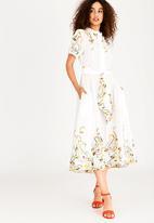 AMANDA LAIRD CHERRY - Mathlo Shirt Dress White