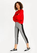 c(inch) - Houndstooth Contrast Pants Black and White
