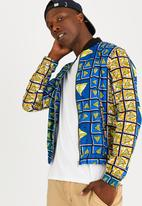STYLE REPUBLIC - Warrior Summer Bomber Blue and Yellow