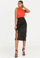 STYLE REPUBLIC - Lace-up Skirt Black
