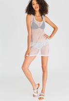 Lithe - Net Tank Dress White