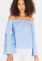 STYLE REPUBLIC - Bell Sleeve Blouse Pale Blue