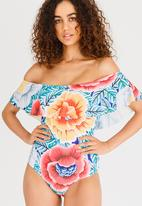 My Scattered Heart - Gypsy Off-the-shoulder One Piece Multi-colour
