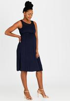 Cherry Melon - Lace Inset Dress Navy