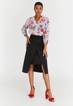 edit - High Waisted Skirt with Wrap Black