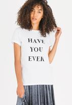 Mevrou & Co - Have You Ever Tee White