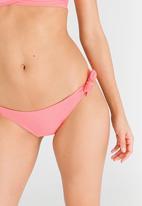 Moontide - Wide Tie Side Bikini Bottom Rose