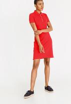 Tommy Hilfiger - Essential Polo Dress Red