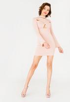 Sissy Boy - Boity Long Sleeve Bodycon Dress Mid Pink