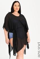 Sun Love - Longer Length Kimono Dress Black