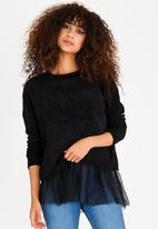 ONLY - Tulle Long Sleeve Jersey Black