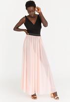 STYLE REPUBLIC - Volume Maxi Skirt Pale Pink