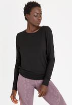 ONLY - Lena Yoga Long Sleeve Tee Black