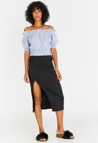 c(inch) - Basic Bodycon Skirt Black