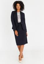 edit - Tailored Pencil Skirt Navy