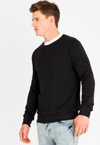 STYLE REPUBLIC - Fleek Crew Neck Sweatshirt Black