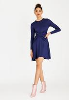 c(inch) - Wrap Front Dress Navy