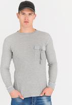 STYLE REPUBLIC - Sweatshirt with Pocket Grey