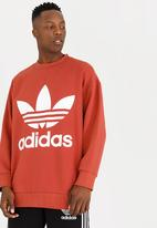 adidas Originals - Oversized crew - orange