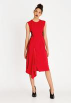 STYLE REPUBLIC - Side Lace Up Dress Red