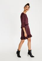 c(inch) - Frill Detail Dress Burgundy