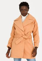 edit - Oversized Wool-like Coat Camel