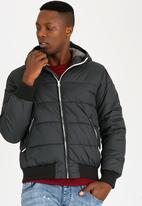 STYLE REPUBLIC - Hooded Puffer Jacket Dark Grey