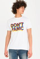 STYLE REPUBLIC - Don't panic tee - white