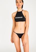 Lithe - High Neck Bikini Top Black
