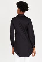 Closet London - Cross Over Shirt Black